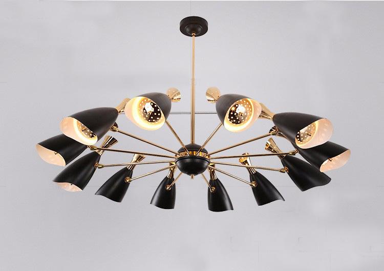 Потолочный светильник копия Duke by Delightfull (12 плафонов, черный)