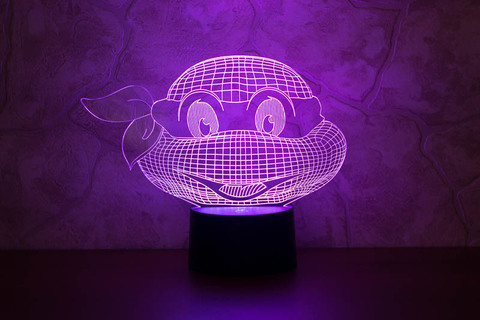 3D лампа Черепашка-ниндзя