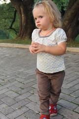 Вельветовые брюки Storchenkinder для девочек, Серо-зеленые