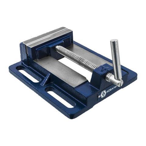 Тиски станочные КОБАЛЬТ ширина губок 100 мм,  захват 110 мм, 3 кг, коробка (246-043)