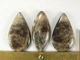 Комплект кабошонов солнечного камня 36x22x5 мм - 2 шт., 37x17x6 мм - 1 шт.
