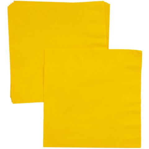 Салфетки Солнечно-Желтые, 33 см