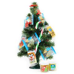 Ёлочка «Новогодняя» со сладостями в подарочной упаковке