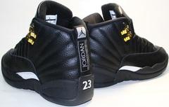 Кроссовки баскетбольные черного цвета air jordan 12 retro