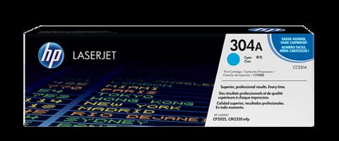 Оригинальный картридж HP CC531A (№304A), голубой