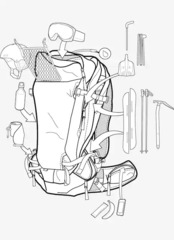 Рюкзак сноубордический Burton Ak Incline 30L Pack Faded Coated Ripstop - 2