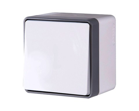 Выключатель Werkel WL15-01-02 IP44 белый (1-кл IP44)