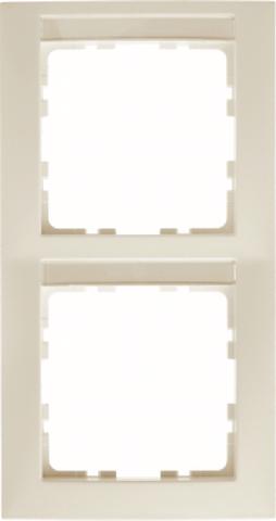 Рамка на 2 поста с полем для надписей. Цвет Бежевый. Berker (Беркер). S.1. 10128912