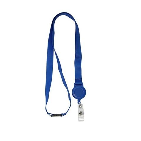 Ремешок с пряжкой и ретрактором синий ST-AC203LR-BL