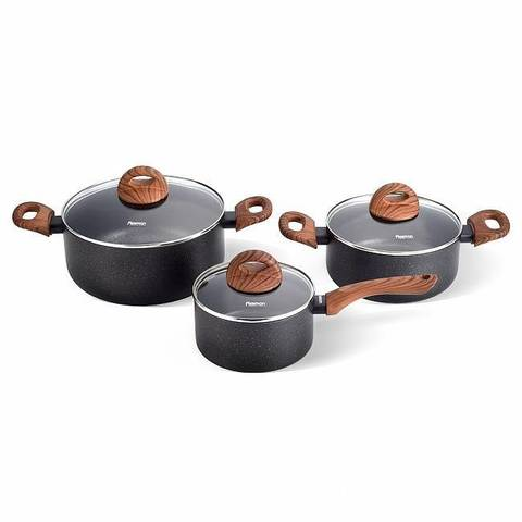 Набор посуды 6 пр. BLACK COSMIC (алюминий)