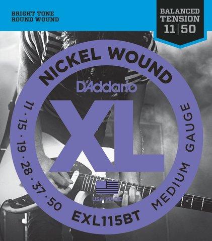 D`ADDARIO EXL115BT NICKEL WOUND, BALANCED TENSION MEDIUM, 11-50