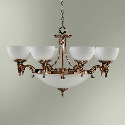Люстра 8-ми рожковая с центральным плафоном на 3 лампы 18255/8+3 БИРМИНГЕМ