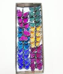 Бабочки декоративные на прищепке 6 см.