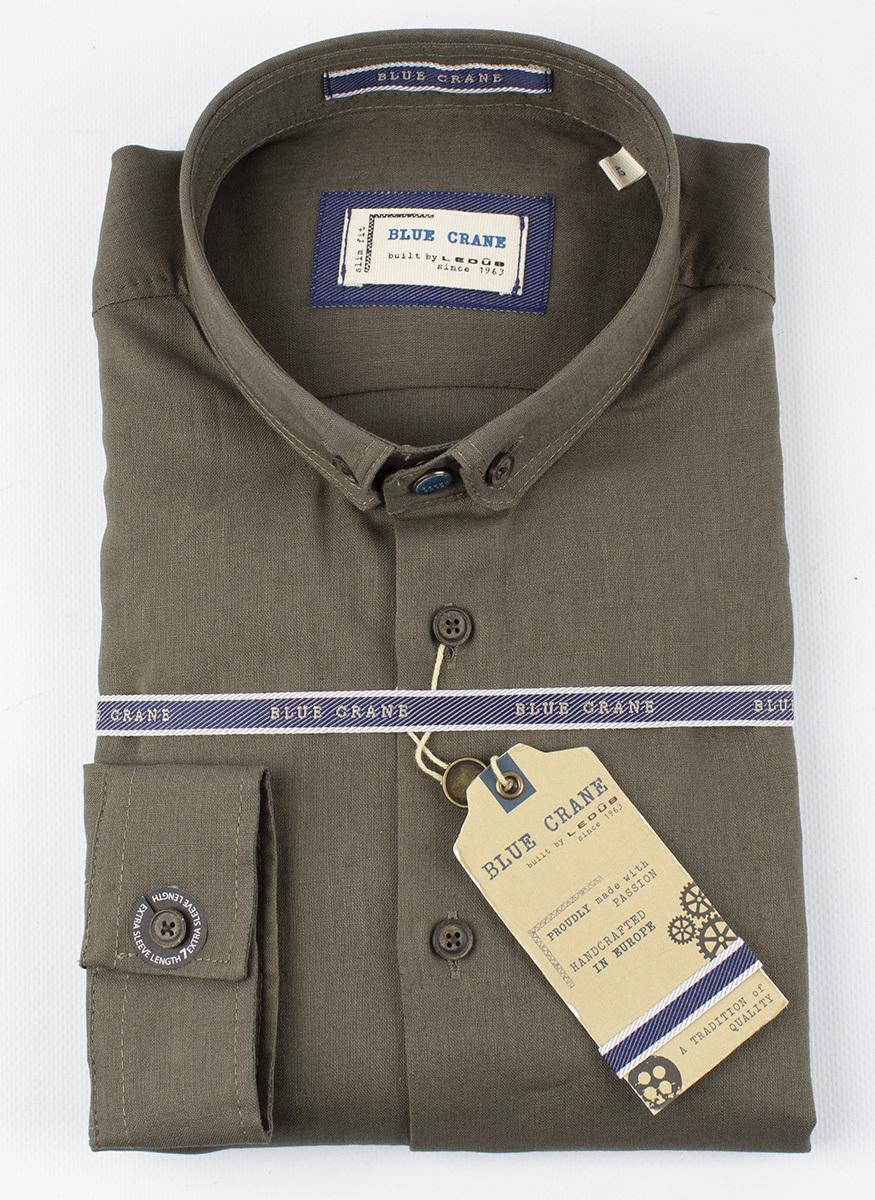 Рубашка (лен) Blue Crane slim fit 3100002-590-000-000-SF-Green