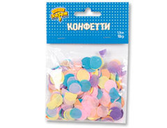 Конфетти тишью, Круги Ассорти Нежное, / 10гр. /