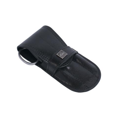 Маникюрный набор Erbe, 4 предмета, кожаный футляр, цвет черный