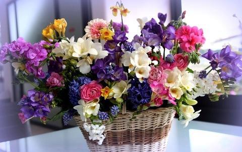Алмазная Мозаика 40x50 Цветы в корзине