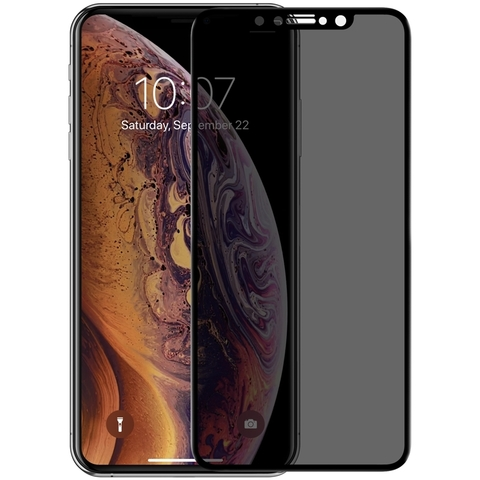 Стекло защитное iPhone XS Max 2.5D Black Privacy Антишпион