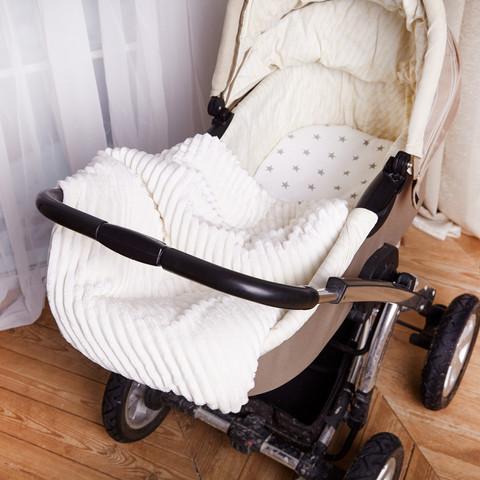 Постельное белье для коляски 4-02 80х80 см Молочный