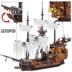 Конструктор Пираты Карибского моря QL1802 Пиратская шхуна 1171 дет