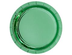 Тарелки фольгированные, Мятный, 23 см, 6 шт, 1 уп.