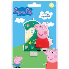 Свеча цифра №2_Peppa Pig