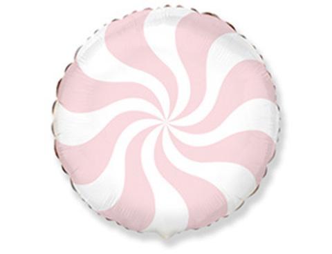 Фольгированный шар Леденец персиковый пастель