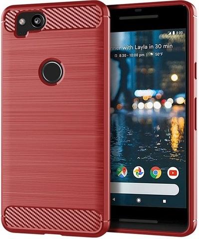 Чехол на Google Pixel2 цвет Red (красный), серия Carbon от Caseport