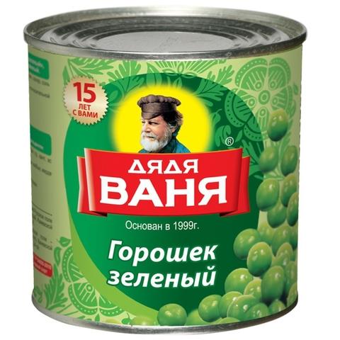 Горошек зеленый ДЯДЯ ВАНЯ 425 мл ж/б РОССИЯ