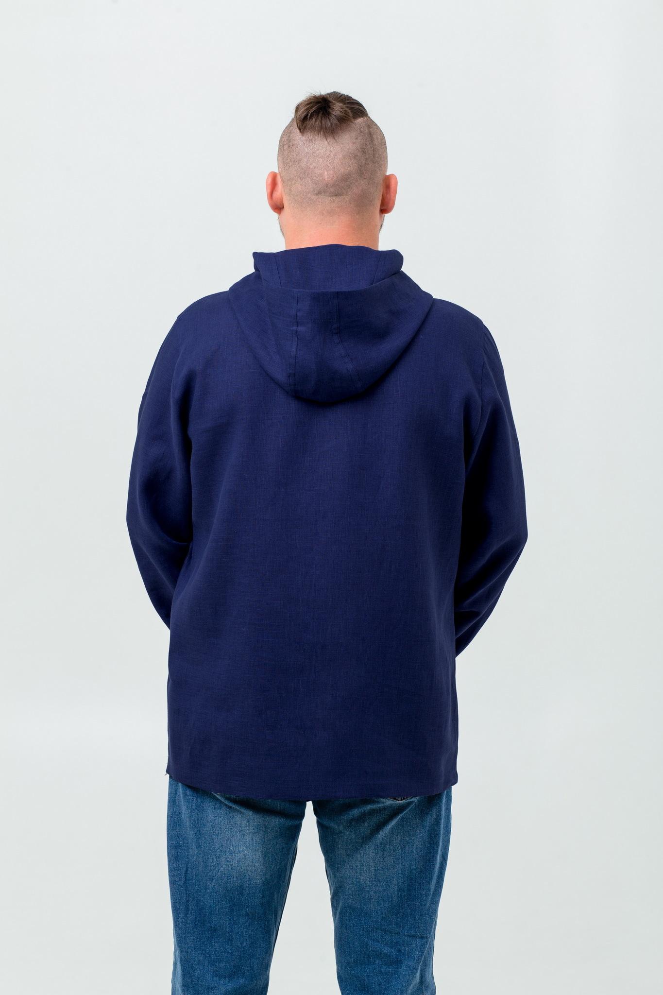 Рубаха мужская Кузнец счастья из льна