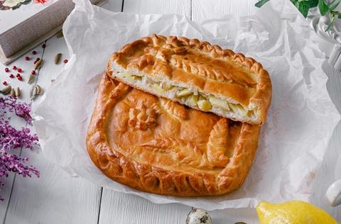 Пирог с курочкой и картофелем