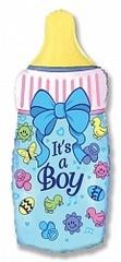 F Мини-фигура Бутылочка для мальчика, Голубой, 14''/36 см, 5 шт.