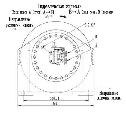 Гидравлическая лебедка IYJ4-50-92-18-ZP (схема 3)