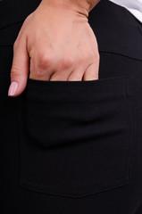 Ешлі. Стильні джеггінси великих розмірів. Чорний.