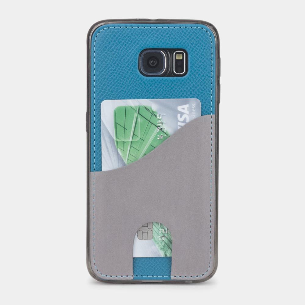 Чехол-накладка Andre для Samsung S6 из натуральной кожи теленка, морского цвета