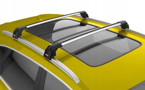 Багажник Turtle Air 2 Silver 106 см. на низкие рейлинги (серебристый цвет) .
