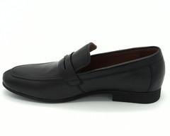 Черные кожаные полуботинки на гибкой подошве