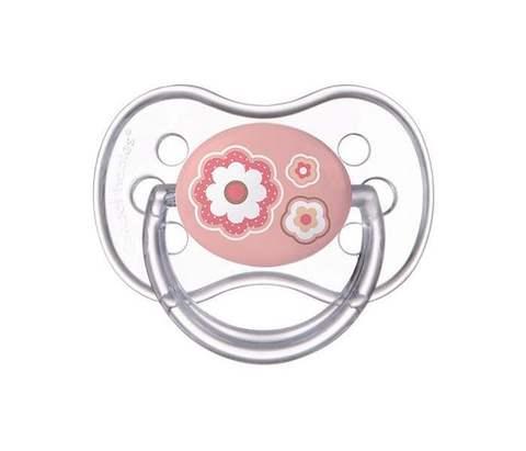 Canpol. Пустышка Newborn baby симметричная силикон, 0-6 мес., розовый