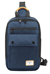 Однолямочный рюкзак Golden Wolf GXB00110 Синий
