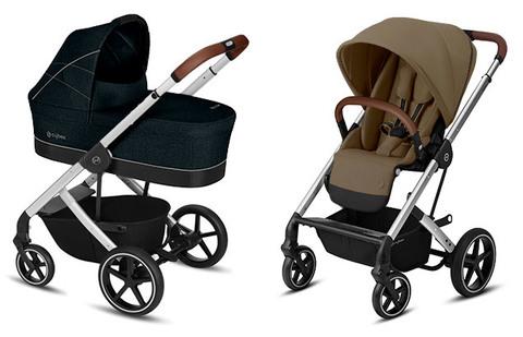 Детская коляска Cybex Balios S Lavastone Black + Balios S Lux SLV