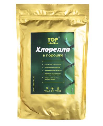 Хлорелла 100% organic в порошке, пакет 500 г