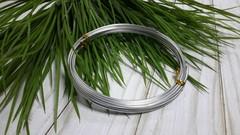 Проволока для плетения алюминиевая, 2 мм, 5 м.
