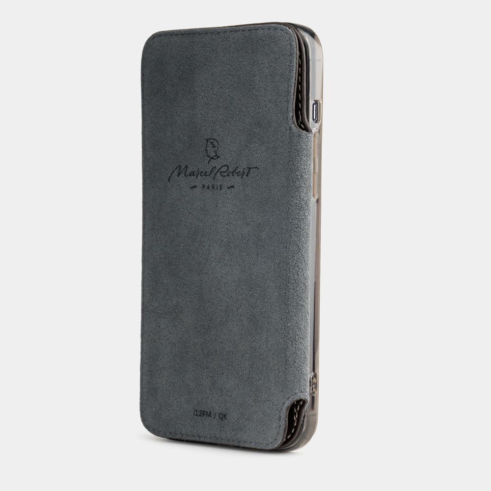 Чехол Benoit для iPhone 12 Pro Max из натуральной кожи теленка, темно-коричневого цвета