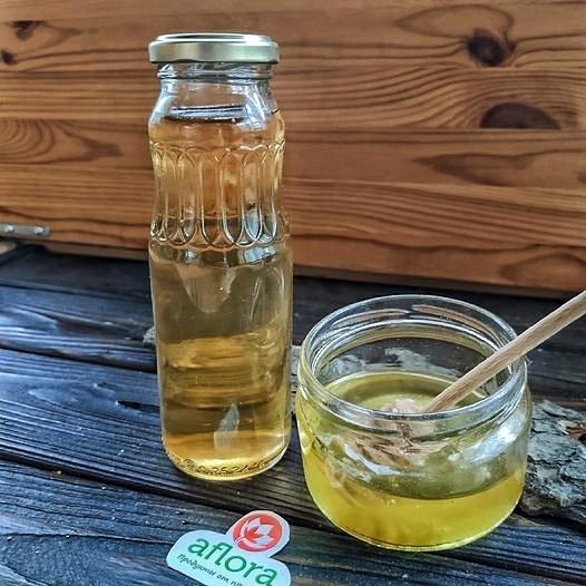 Фотография Уксус яблочный на меду / 500 мл купить в магазине Афлора