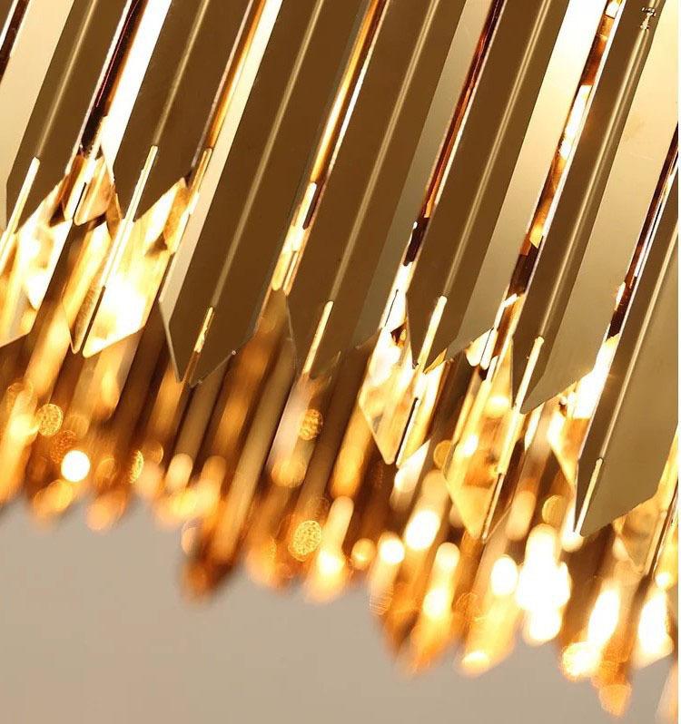 Подвесной светильник копия Tom Kirk Facet by Innermost D80 (2 уровня/золотой)