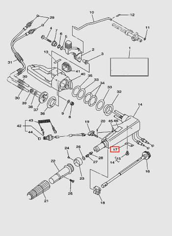 Фиксатор для лодочного мотора T40 Sea-PRO (14-17)