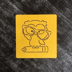 Сова №8 В очках на карандаше