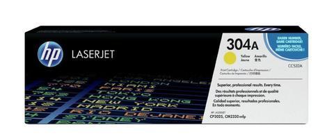 Оригинальный картридж HP CC532A (№304A), жёлтый