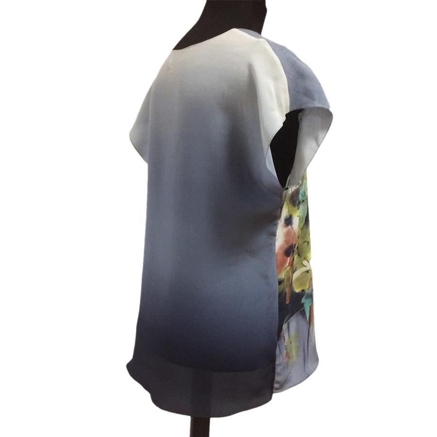 Шелковая блузка батик Туман П-182
