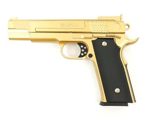 Страйкбольный пистолет Galaxy G.20GD Browning металлический, пружинный